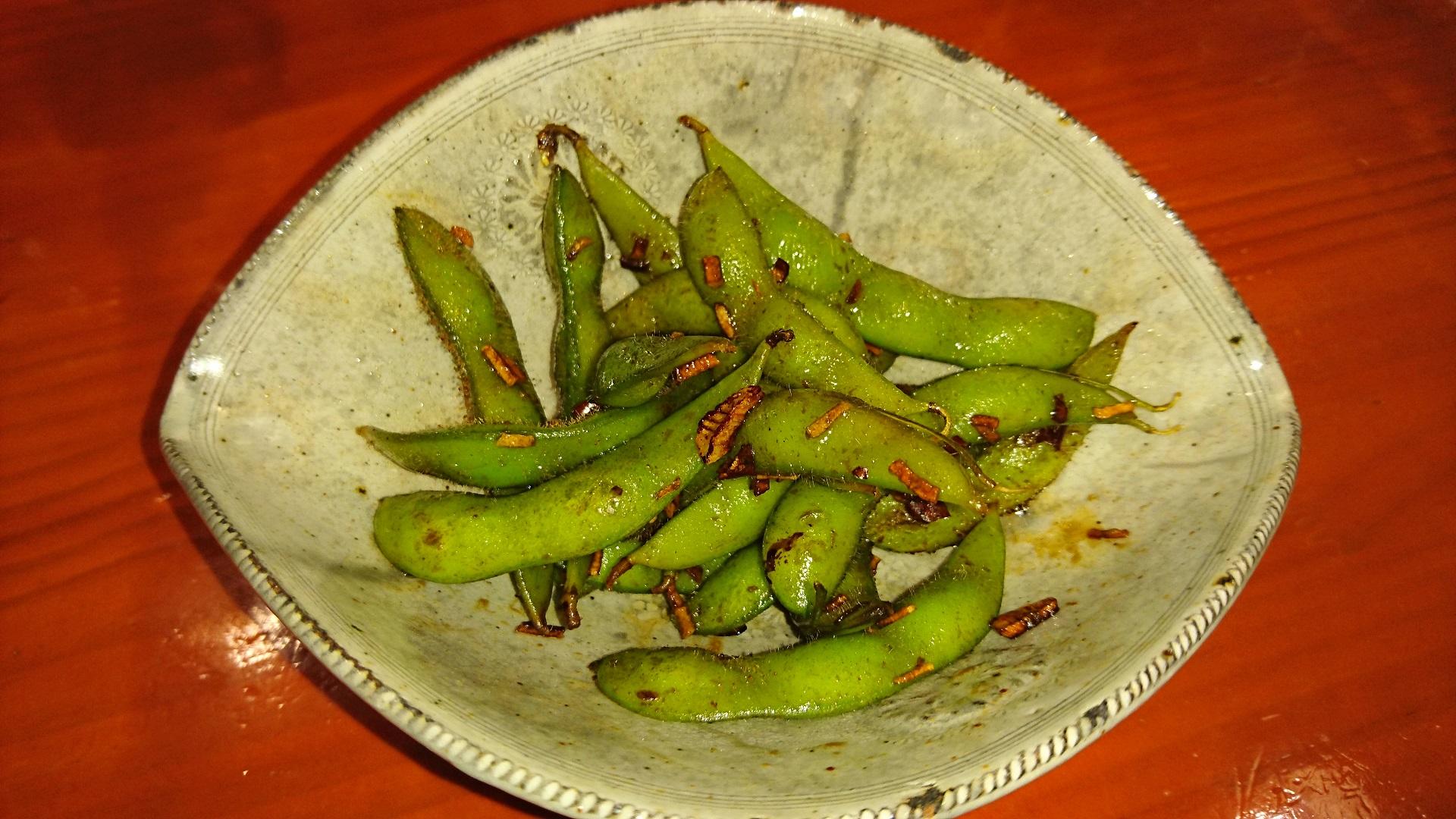 枝豆のガーリンク炒め
