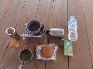 林道でお茶の写真1