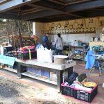 野外炊事場の写真