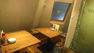 3階テーブル席